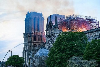 The Cathedral of Notre-Dame on fire. Paris, FRANCE-15/04/2019   //01JACQUESWITT_ndp007/1904152241/Cr