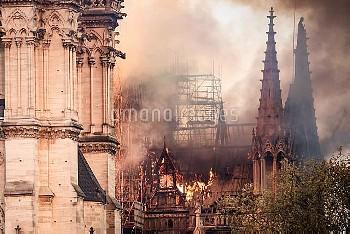 Cathedral of Notre-Dame on fire. Paris, FRANCE-15/04/2019//04MEIGNEUX_meigneuxA010/1904152252/Credit