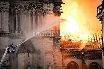 Cathedral of Notre-Dame on fire. Paris, FRANCE-15/04/2019//04MEIGNEUX_meigneuxA018/1904152254/Credit