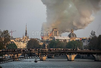 Cathedral of Notre-Dame on fire. Paris, FRANCE-15/04/2019//04MEIGNEUX_meigneuxA048/1904152259/Credit