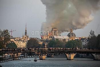 Cathedral of Notre-Dame on fire. Paris, FRANCE-15/04/2019//04MEIGNEUX_meigneuxA048/1904152259/Credit