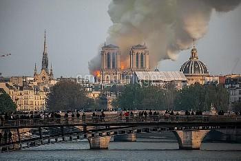 Cathedral of Notre-Dame on fire. Paris, FRANCE-15/04/2019//04MEIGNEUX_meigneuxA047/1904152258/Credit
