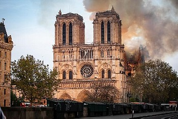 Cathedral of Notre-Dame on fire. Paris, FRANCE-15/04/2019//04MEIGNEUX_meigneuxA053/1904152301/Credit