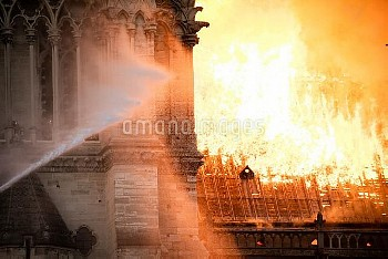 Cathedral of Notre-Dame on fire. Paris, FRANCE-15/04/2019//04MEIGNEUX_meigneuxA066/1904152303/Credit