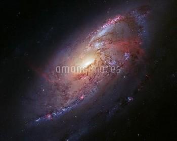 Spiral galaxy M106, Hubble image