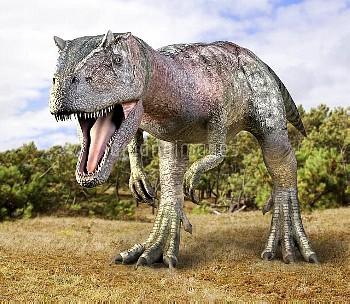 Allosaurus dinosaur, artwork