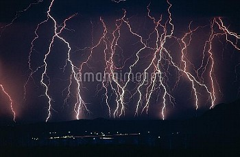 Lightning near Barstow, California