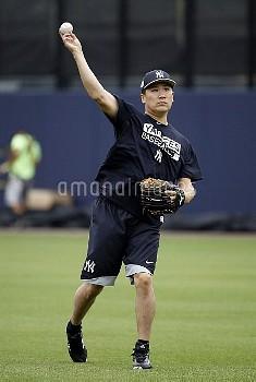 ヤンキースの田中将大が3年連続開幕投手 MLB: New York Yankees-Workouts