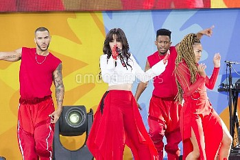 NY: Camila Cabello performing at the Good Morning America show