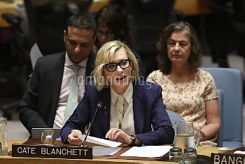 NY: Cate Blanchett Speaks At UN
