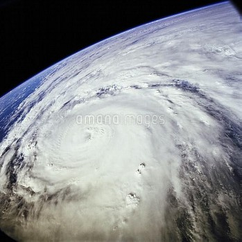 Typhoon Saomai swirls in the Pacific Ocean east of Taiwan and the Philippines. The typhoon was captu