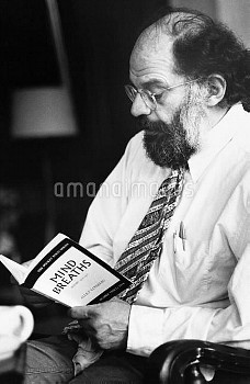 Allen Ginsberg, photographed at a 1978 poetry reading in Ann Arbor.