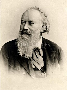 Johannes Brahms  7 May 1833 - 3 April 1897 German composer of the Romantic period  Credit: Peter Jos