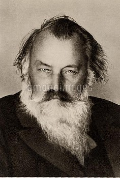 Johannes Brahms (1833-1897) German composer. From photograph taken in the the last year of his life.