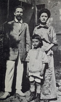 The Composer Alexander Scriabin and Tatyana with their ill-fated son Julian in 1913