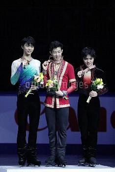 Nathan Chen, Yuzuru Hanyu, Shoma Uno, ISU Four Continents Figure Skating Championships in Gangneung,