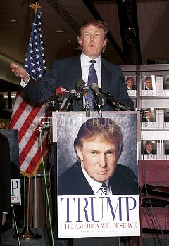 Donald Trump signs new book