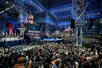 Supporters pack Hillary Clinton's Election Night Rally in New York