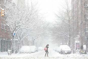 大雪に見舞われたニューヨーク Winter Snow Storm hits New York City