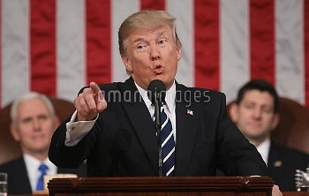 US President Donald J. Trump addresses Joint Session of Congress