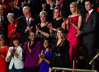 First Lady Ivanka Trump is applauded before President Trump's address to a Joint Session of Congress