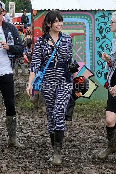 Cara Delevingne, Suki Waterhouse, and other celebrities attend Glastonbury Festival - Day 2  Featuri