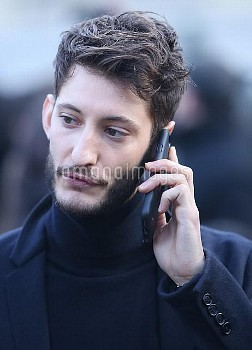Paris Fashion Week Menswear Fall/Winter 2017/2018 - Dior - Outside Arrivals  Featuring: Pierre Niney