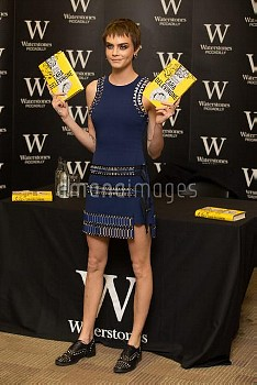 British model and actress meets her fans and signs copies of her debut novel Mirror Mirror  Featurin