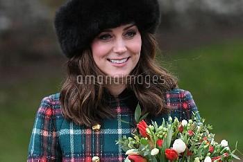 The Royal family at Sandringham on Christmas Day  Featuring: Kate Middleton Where: Sandringham, Unit