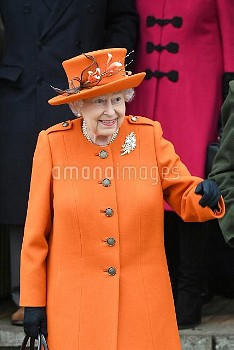 The Royal family at Sandringham on Christmas Day  Featuring: The Queen Where: Sandringham, United Ki