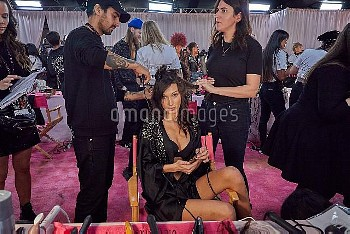 Victoria Secret 2018 Runway Show Backstage at Pier 94  Featuring: Bella Hadid Where: New York, New