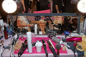Victoria Secret Runway Show 2018 Backstage at Pier 94  Featuring: Victoria Secret Angels 2018 Wher