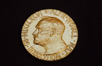Dec. 10, 2010 - Oslo, Norway - The front of the Nobel medal awarded to the Nobel Peace Prize laureat