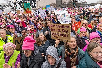 USA: Crowds gather for DC Women's March