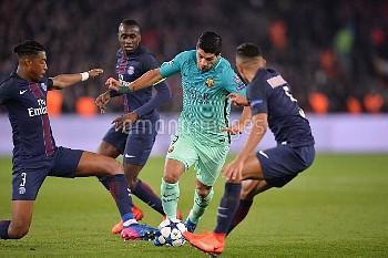 欧州CL決勝トーナメント1回戦第1戦:パリ・サンジェルマンvs.バルセロナ FOOTBALL : Paris SG vs Barcelone - Ligue des Champions - 14/02