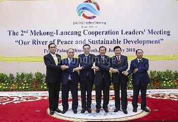 中国とメコン川流域5カ国が首脳会議を開催