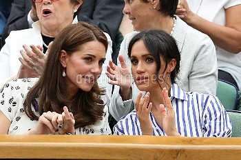Catherine and Meghan Watch Wimbledon 2018