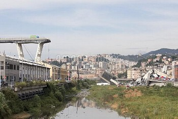 Morandini Bridge Collapsed In Genoa