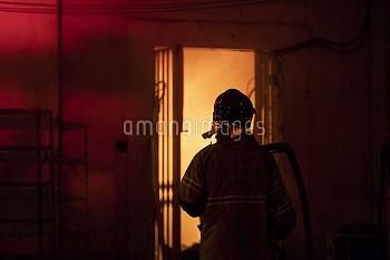 RIO DE JANEIRO, Sept. 3, 2018  A firefighter works at the National Museum of Brazil in Rio de Janeir