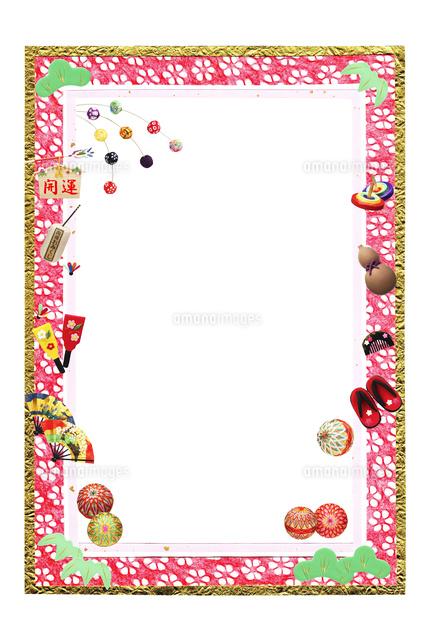 正月イメージのフレーム09522000928の写真素材イラスト素材アマナ