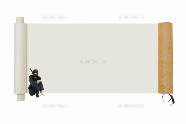 巻物と忍者10131077912の写真素材イラスト素材アマナイメージズ