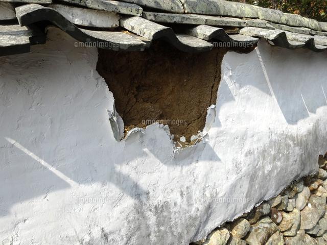 老朽化した土塀