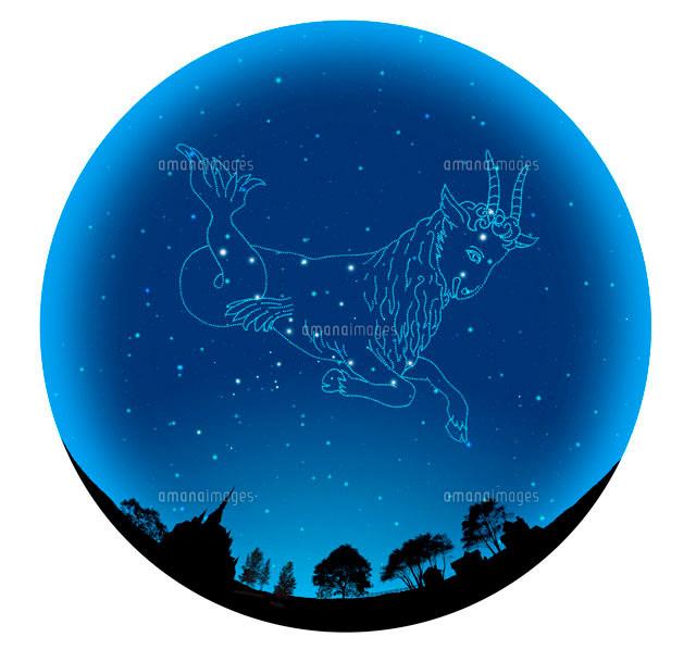 田園イメージの球体にやぎ座12星座10141000291の写真素材