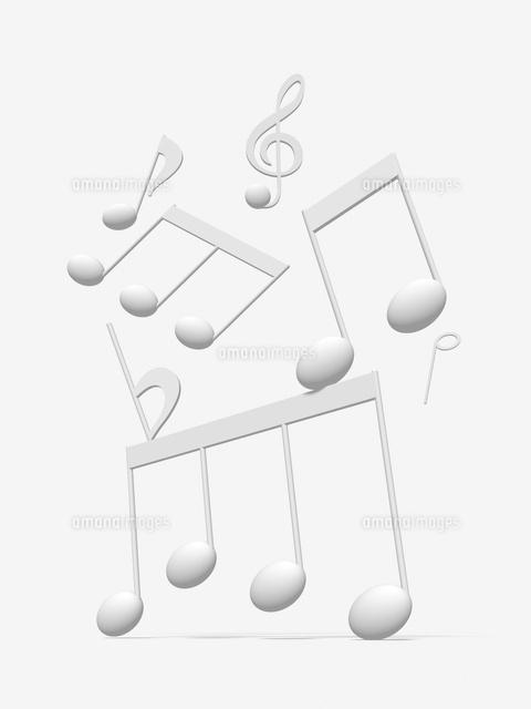 音符のモノクロイメージ10143002406の写真素材イラスト素材アマナ