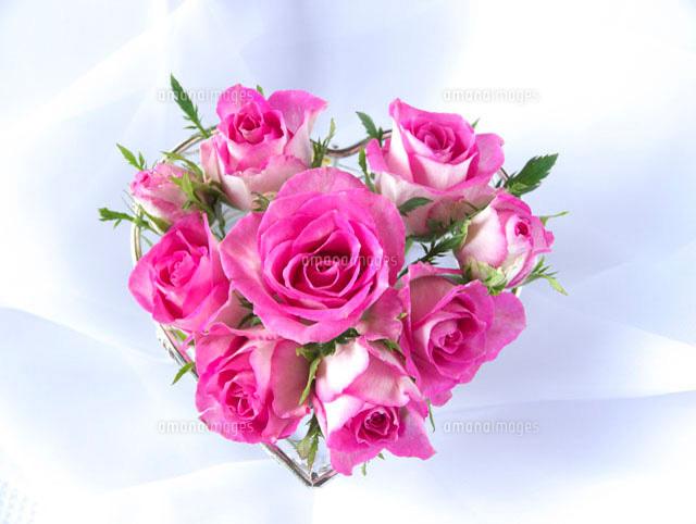 ハート型のバラの花束10170000193の写真素材イラスト素材アマナ