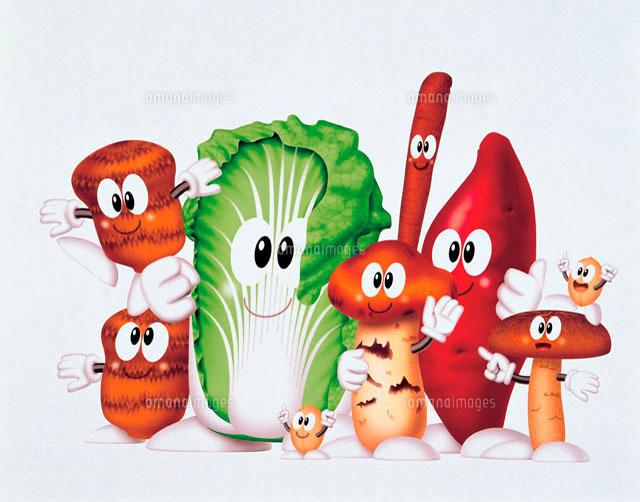 秋野菜のイラスト10173000317の写真素材イラスト素材アマナイメージズ