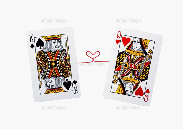キングとクイーンのトランプ の写真素材 イラスト素材 アマナイメージズ