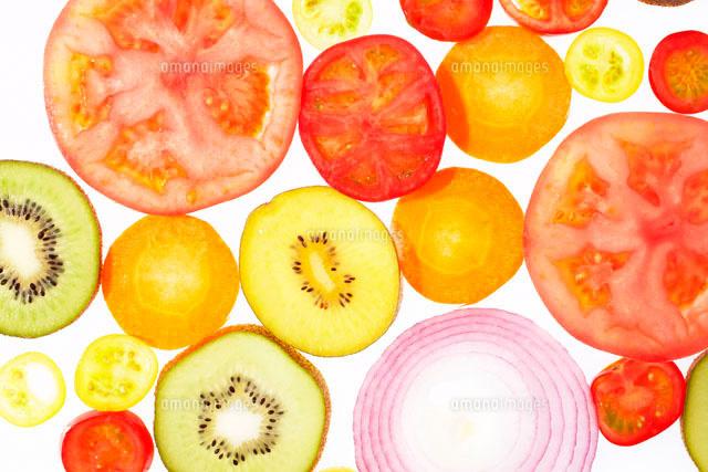 スライス野菜と果物10179003919の写真素材イラスト素材アマナ