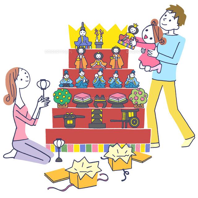 イラスト 雛祭りの家族10248013184の写真素材イラスト素材アマナ