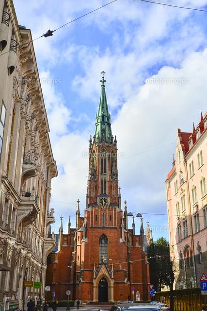 ラトビア・首都リガにある英国教会・1857年に英国の商人達が寄付して ...